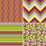 Seamless decorative patterns Royalty Free Stock Photos
