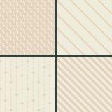 Seamless decorative patterns Stock Photo