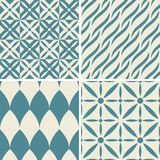 Seamless decorative patterns Stock Image