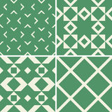 Seamless decorative patterns Stock Photos