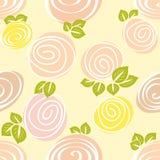 Seamless decorative rose bud pattern. Stock Photo