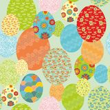 Decorative floral easter pattern Stock Image