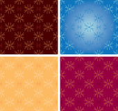 Seamless decorative textures - vector Royalty Free Stock Image