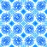 Seamless decorative watercolor pattern Royalty Free Stock Images