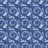 Seamless decorative wavy pattern blue Royalty Free Stock Photos