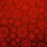 Seamless deep red christmas pattern. EPS 10 Stock Photography