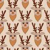 Seamless deer fabric pattern Stock Images