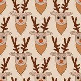 Seamless deer fabric pattern. Seamless cartoon deer fabric pattern Royalty Free Illustration