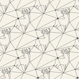 Seamless deer line pattern tile background Stock Images
