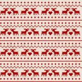 Seamless deer pattern Royalty Free Stock Photo