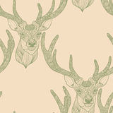 Seamless deer pattern Royalty Free Stock Photos