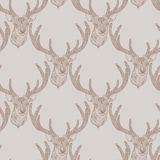 Seamless deer pattern Stock Photography