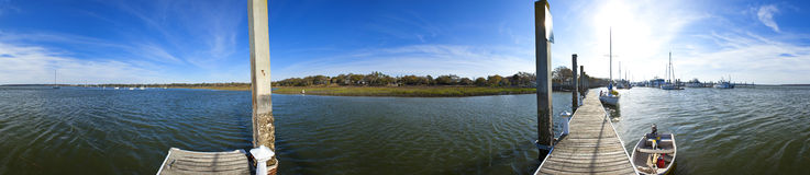 360 seamless panorama of beaufort south carolin Stock Photos