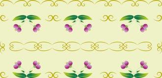 seamless dekorativ blom- modell Fotografering för Bildbyråer