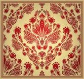 seamless dekorativ blom- prydnad Royaltyfria Foton