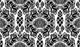 seamless dekorativ blom- prydnad Arkivfoto
