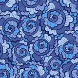 Seamless dekorativ ljus blue för wavy modell Royaltyfri Bild