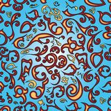 Seamless dekorativ wallpaper Royaltyfri Bild