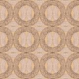 Seamless dekorativa mönstrar i brunt tonar Royaltyfri Fotografi