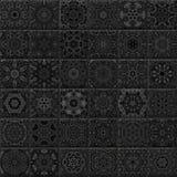 Seamless dekorativa tegelplattor Arkivfoto
