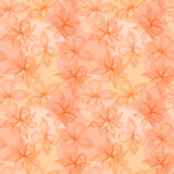 Seamless delicate abstract pattern with flowers. Vector picture. Royalty Free Stock Photography