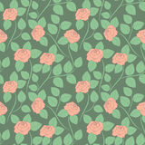 Seamless delicate abstract pattern with roses. Vector picture. Royalty Free Stock Images