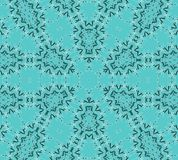 Seamless delicate ellipses pattern turquoise green white. Abstract geometric seamless background. Centered ellipses pattern in turquoise green and aquamarine royalty free illustration