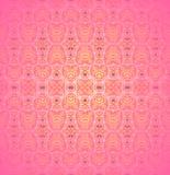 Seamless delicate ornament pink yellow violet Stock Images