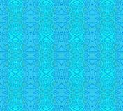 Seamless delicate ornamental pattern turquoise blue. Abstract geometric monochrome background, seamless ornate ellipses and diamond pattern in blue green shades vector illustration