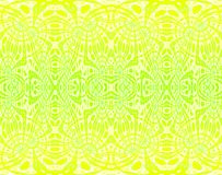 Seamless delicate ornaments yellow lime green. Abstract light geometric background, seamless ellipses pattern, extensive ornaments in yellow green shades Royalty Free Stock Image