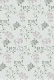 Seamless delicate prairie flowers pattern vector illustration