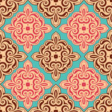 Seamless demask ornament Royalty Free Stock Images