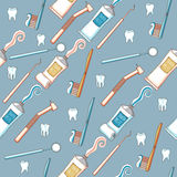 Seamless dental background Stock Image
