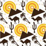Seamless desert background Royalty Free Stock Photo