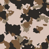 Seamless desert camo. Pattern texture Royalty Free Stock Images