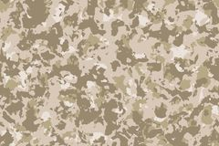 Seamless desert camouflage background or texture Stock Photo