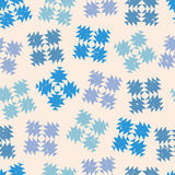 Seamless design with abstract snowflakes Royalty Free Stock Image
