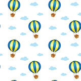 A seamless design with big floating balloons Stock Photos