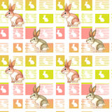 A seamless design with bunnies Royalty Free Stock Photos