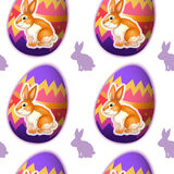 A seamless design with bunnies inside the eggs Royalty Free Stock Photography