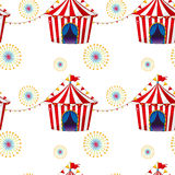 Seamless design with carnival tents. Illustration of a seamless design with carnival tents on a white background Royalty Free Stock Images