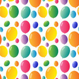 Seamless design with colorful balloons Stock Photography