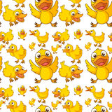 Seamless design of ducklings Royalty Free Stock Images
