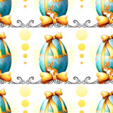 A seamless design with Easter eggs and bunnies Royalty Free Stock Images
