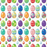 Seamless design with Easter eggs Stock Image