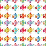 A seamless design of fishes Stock Photography