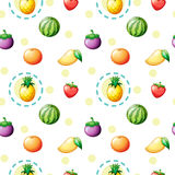 Seamless design with fruits Royalty Free Stock Photos