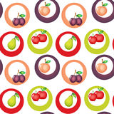 A seamless design with fruits Royalty Free Stock Photos