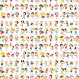 Seamless design of a group of people Stock Photo