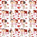 A seamless design of lovers Royalty Free Stock Images
